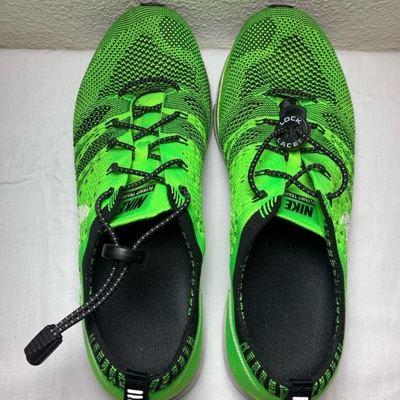 Nike Flyknit Running Shoes 8.5 Men's Lime Green